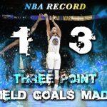 カリーが13本の3ポイントを成功、1試合の3ポイント成功数新記録を樹立