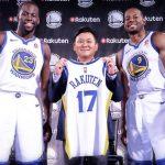 NBA王者のウォリアーズと日本のトップIT企業の楽天がスポンサーシップ契約を締結